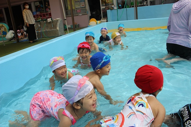 7月28日(火)プール遊び